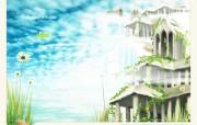 梦中仙境插画设计壁纸 梦中仙境插画设计壁纸 创意壁纸