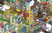像素绘制的城市壁纸 创意壁纸