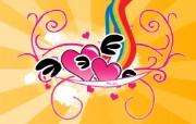 心型主题设计壁纸 心型主题设计壁纸 创意壁纸