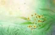 炫彩花卉合成壁纸 炫彩花卉合成壁纸 创意壁纸