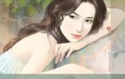 言情小说手绘美女壁纸 言情小说手绘美女壁纸 创意壁纸
