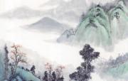 中国笔墨山水画壁纸 创意壁纸