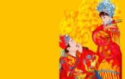中国传统婚礼矢量插画 创意壁纸