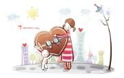 爱情宽屏卡通壁纸下载 爱情宽屏卡通壁纸下载 动漫壁纸