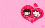 爱时尚 招财童子 可爱爱情宽屏壁纸 壁纸1 爱时尚(招财童子)可 动漫壁纸