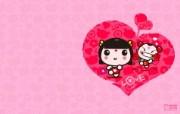 爱时尚 招财童子 可爱爱情宽屏壁纸 壁纸2 爱时尚(招财童子)可 动漫壁纸