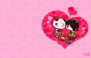 爱时尚 招财童子 可爱爱情宽屏壁纸 壁纸3 爱时尚(招财童子)可 动漫壁纸