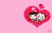 爱时尚 招财童子 可爱爱情宽屏壁纸 壁纸6 爱时尚(招财童子)可 动漫壁纸