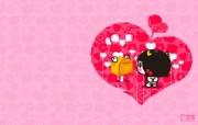 爱时尚 招财童子 可爱爱情宽屏壁纸 壁纸8 爱时尚(招财童子)可 动漫壁纸