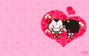 爱时尚 招财童子 可爱爱情宽屏壁纸 壁纸9 爱时尚(招财童子)可 动漫壁纸