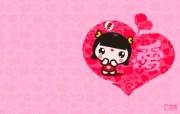 爱时尚 招财童子 可爱爱情宽屏壁纸 壁纸10 爱时尚(招财童子)可 动漫壁纸