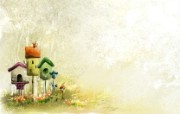 Aquarel可爱插画宽屏高清壁纸 壁纸20 Aquarel可爱插 动漫壁纸