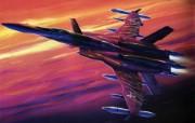 超时空要塞 宇宙战舰 宽屏手绘壁纸 壁纸21 超时空要塞(宇宙战舰 动漫壁纸