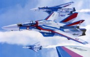 超时空要塞 宇宙战舰 宽屏手绘壁纸 壁纸32 超时空要塞(宇宙战舰 动漫壁纸