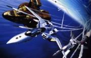 超时空要塞 宇宙战舰 宽屏手绘壁纸 壁纸35 超时空要塞(宇宙战舰 动漫壁纸