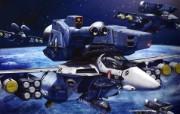 超时空要塞 宇宙战舰 宽屏手绘壁纸 壁纸36 超时空要塞(宇宙战舰 动漫壁纸