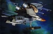 超时空要塞 宇宙战舰 宽屏手绘壁纸 壁纸38 超时空要塞(宇宙战舰 动漫壁纸