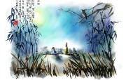 韩国水墨卡通桌面壁纸 动漫壁纸