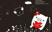 黑白猪 Mono KuRo BOO 壁纸1 黑白猪 (Mono 动漫壁纸