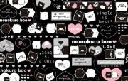 黑白猪 Mono KuRo BOO 壁纸7 黑白猪 (Mono 动漫壁纸