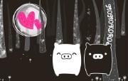 黑白猪 Mono KuRo BOO 壁纸11 黑白猪 (Mono 动漫壁纸