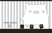 黑白猪 Mono KuRo BOO 壁纸14 黑白猪 (Mono 动漫壁纸