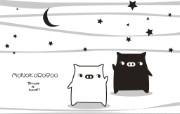 黑白猪 Mono KuRo BOO 壁纸18 黑白猪 (Mono 动漫壁纸