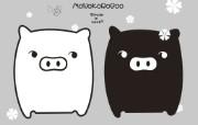 黑白猪 Mono KuRo BOO 壁纸20 黑白猪 (Mono 动漫壁纸