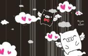 黑白猪 Mono KuRo BOO 壁纸22 黑白猪 (Mono 动漫壁纸