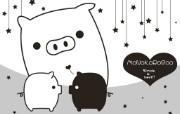 黑白猪 Mono KuRo BOO 壁纸23 黑白猪 (Mono 动漫壁纸