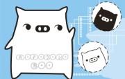 黑白猪 Mono KuRo BOO 壁纸25 黑白猪 (Mono 动漫壁纸
