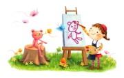 六一国际儿童节可爱卡通宽屏壁纸 壁纸4 六一国际儿童节可爱卡 动漫壁纸