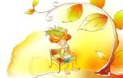 秋天的童话 橙色卡通宽屏壁纸 壁纸3 秋天的童话 橙色卡通 动漫壁纸
