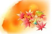 秋天的童话 橙色卡通宽屏壁纸 壁纸4 秋天的童话 橙色卡通 动漫壁纸