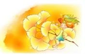 秋天的童话 橙色卡通宽屏壁纸 壁纸8 秋天的童话 橙色卡通 动漫壁纸