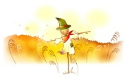 秋天的童话 橙色卡通宽屏壁纸 壁纸10 秋天的童话 橙色卡通 动漫壁纸