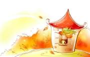 秋天的童话 橙色卡通宽屏壁纸 壁纸12 秋天的童话 橙色卡通 动漫壁纸