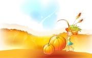 秋天的童话 橙色卡通宽屏壁纸 壁纸13 秋天的童话 橙色卡通 动漫壁纸