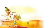 秋天的童话 橙色卡通宽屏壁纸 壁纸15 秋天的童话 橙色卡通 动漫壁纸