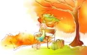 秋天的童话 橙色卡通宽屏壁纸 壁纸17 秋天的童话 橙色卡通 动漫壁纸
