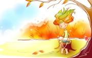 秋天的童话 橙色卡通宽屏壁纸 壁纸18 秋天的童话 橙色卡通 动漫壁纸