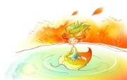 秋天的童话 橙色卡通宽屏壁纸 壁纸19 秋天的童话 橙色卡通 动漫壁纸