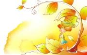 秋天的童话 橙色卡通宽屏壁纸 壁纸20 秋天的童话 橙色卡通 动漫壁纸