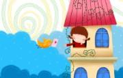 童年的回忆 可爱卡通女孩壁纸 壁纸4 童年的回忆 可爱卡通 动漫壁纸