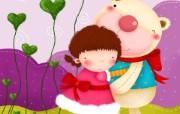 童年的回忆 可爱卡通女孩壁纸 壁纸5 童年的回忆 可爱卡通 动漫壁纸