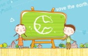 拯救地球可爱卡通壁纸 动漫壁纸