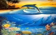 海洋的精灵海豚(二) 动物壁纸