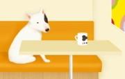 Painter 柔和插画我的宠物狗 动物壁纸