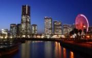 城市魅力夜景 风景壁纸