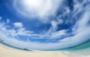 冲绳岛的碧海蓝天 风景壁纸